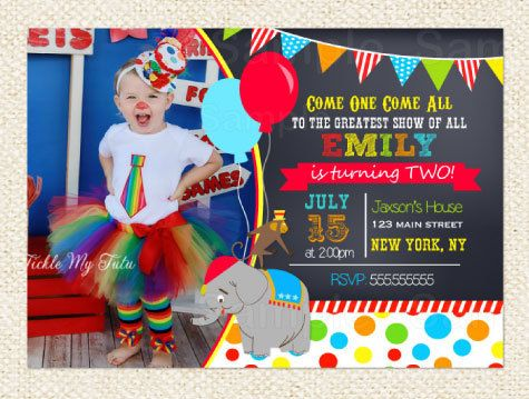Best  Circus Birthday Invitations Ideas On   Circus