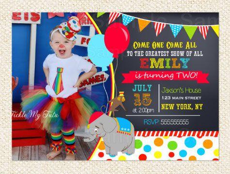 Best 25+ Carnival birthday invitations ideas on Pinterest ...
