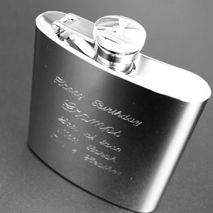 Engraved Hip Flask