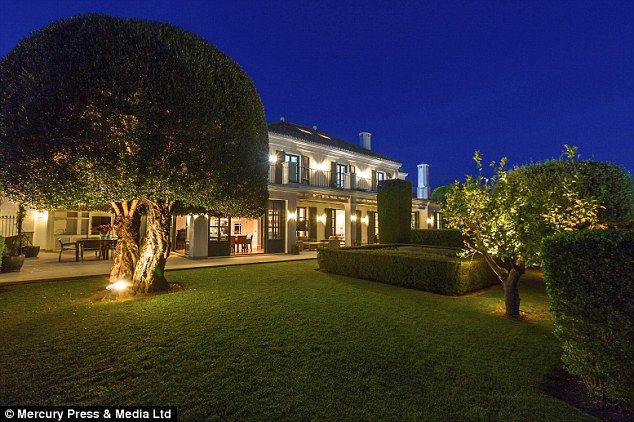 For sale: The seven-bedroom Marbella mansion is on the market for £5m...