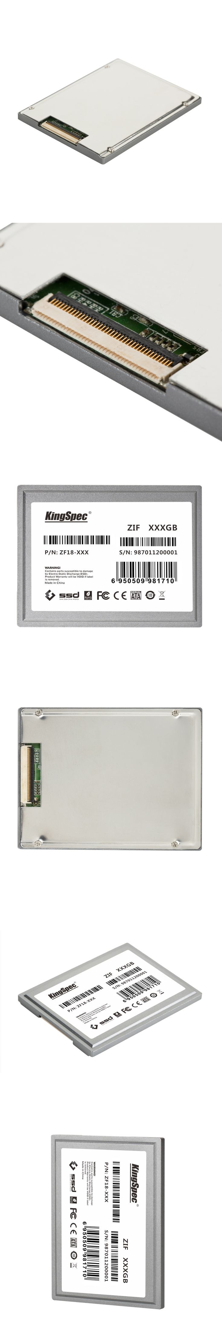 KingSpec ZF18-128 1.8 inch ZIF CE Interface IDE SSD Hard Drive Disk 128GB Solid State Drive IDE Flash Drive For Ultrabook