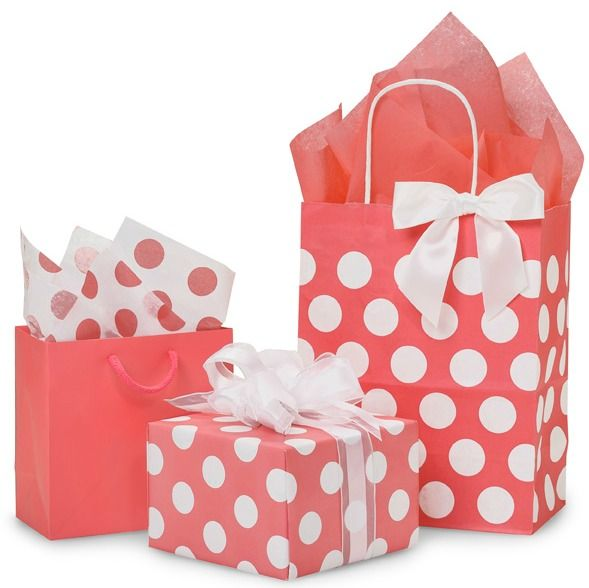Coral Rose Polka Dot Collection from Nashville Wraps #weddinggiftwrap