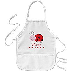 sunningq Little Red Ladybug Personalized Kids Apron