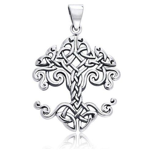 Bling Jewelry Sterling Silver Tree of Life Celtic Knot Pendant