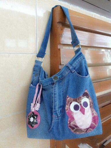 My first jeans bag handmade