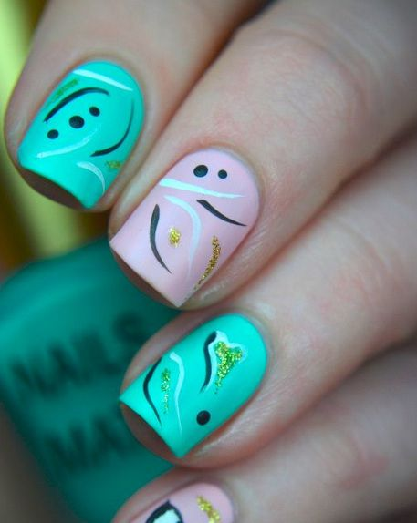 Pastel Nails #slimmingbodyshapers  The key to positive body image go to slimmingbodyshapers.com  for plus size shapewear and bras