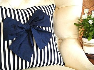 striped cushion with bow: i definetely love it!