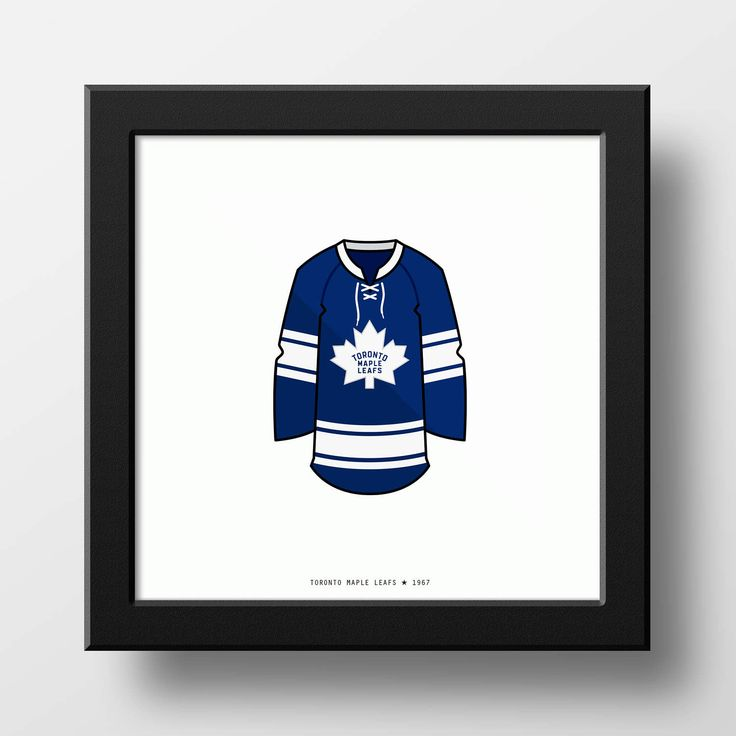 Toronto Maple Leafs 1966-1967 Jersey Illustration Classic Vintage by PianoMugshot on Etsy