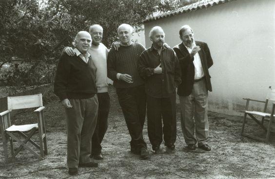 Fernando Távora, Alexandre Alves Costa, Alcino Soutinho, José Grade, Álvaro Siza, em Casa Alves Costa, Moledo do Minho