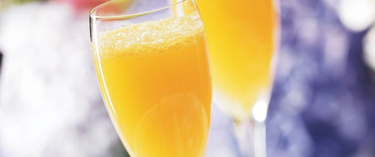 Peach nectar makes mimosas even more celebratory! Make them upon request in only 5 minutes.