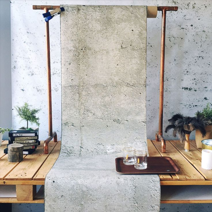 Concrete Sandy Wallpaper by WYNIL: easy interior design ideas for an architectural, industrial, pure look in your home or office.