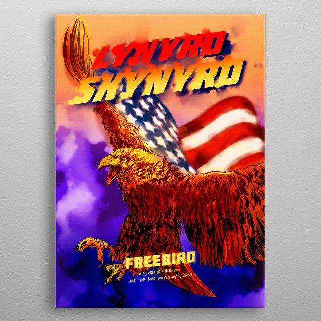 Lynyrd Skynyrd By Mr Jackpots Metal Posters Displate Http Bit Ly 2e1zlhi Pixbreak Canvasprint Walldecor H Sale Artwork Wall Art Prints Art Prints