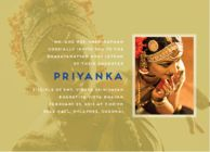 Make a grand stage debut with personalized arangetram invitation cards, arangetram invitation samples, dance arangetram invitations online at Inksedge