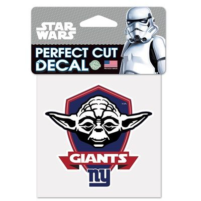 New York Giants Star Wars Yoda 4x4 Perfect Cut Decal: New York Giants Star Wars Yoda 4x4 Perfect Cut Decal Officially licensed WinCraft…