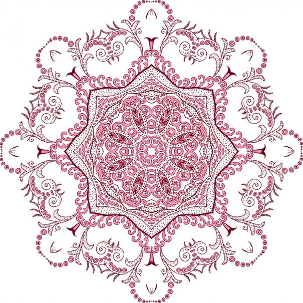 Mandala morado ... (Yoga Sutras de Patanjali) ...
