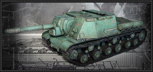 WWII Soviet ISU-152 Armored Assault Gun Free Paper Model Download - http://www.papercraftsquare.com/wwii-soviet-isu-152-armored-assault-gun-free-paper-model-download.html