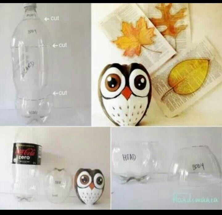 How to Easily Make Owl Container from Plastic Bottle