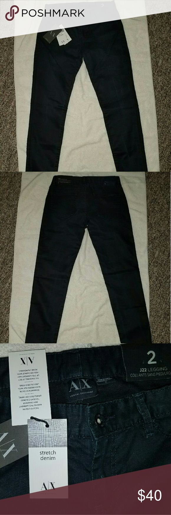 Armani Exchange stretch leggings pants These pants are brand new with tags/never worn. They are black color and are very very stretchy. Expendable denim leggings is what is indicated on the tag. No lowball offers.  No trades. Armani Exchange Pants Leggings