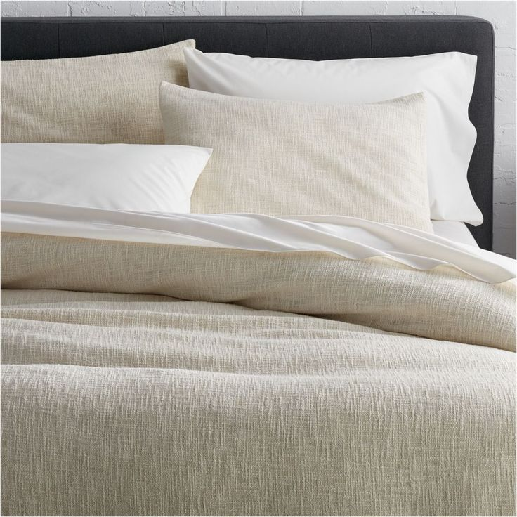 Lindstrom Ivory Full/Queen Duvet Cover - Crate and Barrel