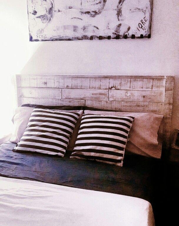 Respaldo de somier totalmente realizado con maderas de pallets