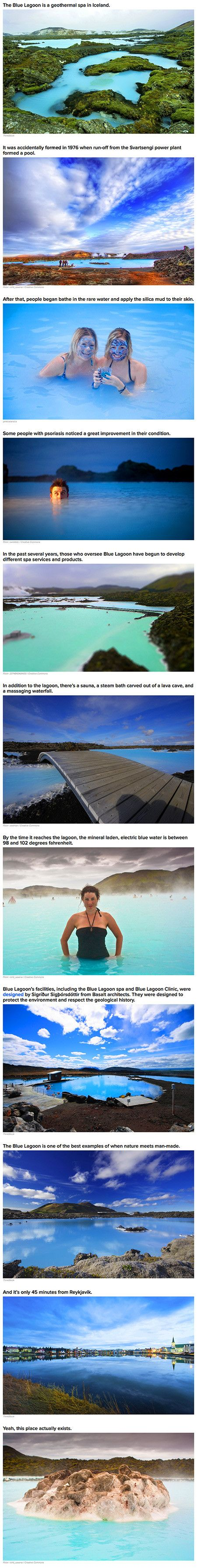 The Blue Lagoon in Iceland is freaking amazing. The 8th wonder of the world.