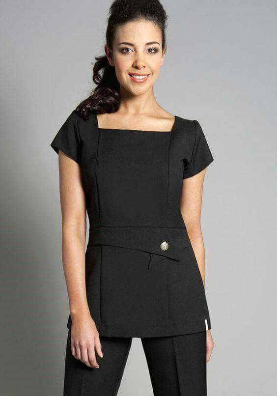 Like the square neck line & asymmetric touch in fromt