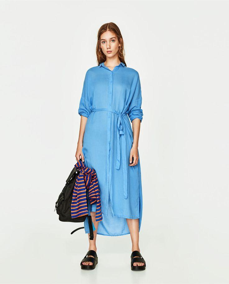 Image 1 de ROBE LONGUE STYLE CHEMISE de Zara