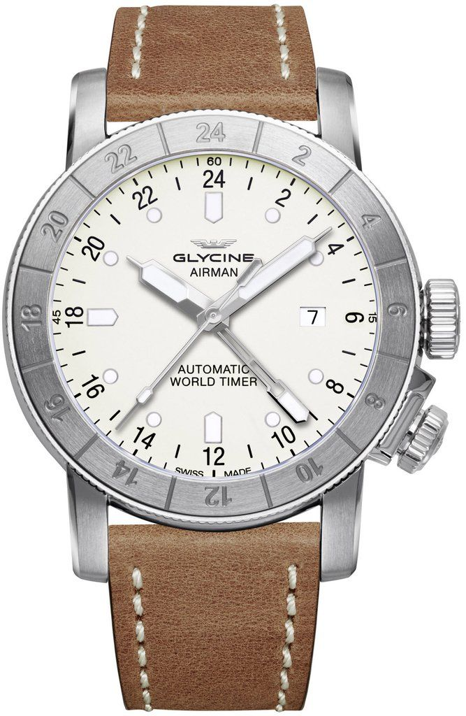 Glycine Watch Airman 44 Pre-Order #add-content #basel-17 #bezel-bidirectional #bracelet-strap-leather #brand-glycine #case-material-steel #case-width-44mm #date-yes #delivery-timescale-call-us #dial-colour-silver #gender-mens #gmt-yes #luxury #movement-au