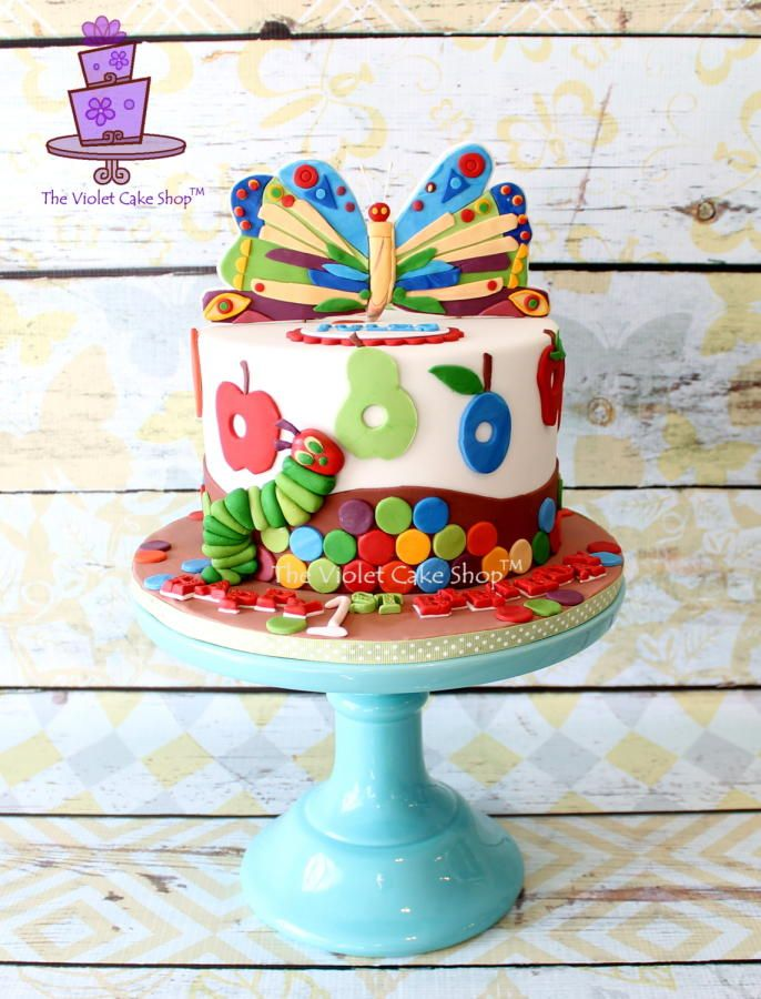 The Very HUNGRY CATERPILLAR for Jules - Cake by Violet - The Violet Cake Shop