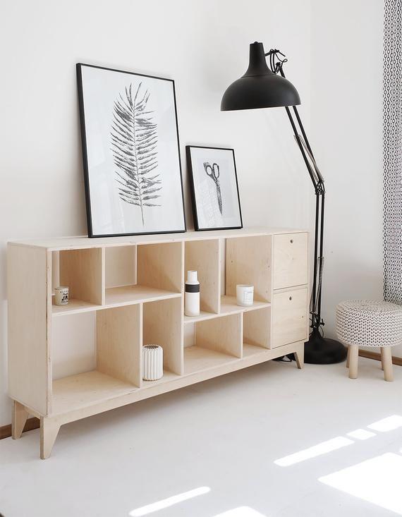 Fuzzle 2 Contreplaque Tv Bibliotheque Meuble Tv Et Etsy Furniture Inspiration European Home Decor Tv Bookcase