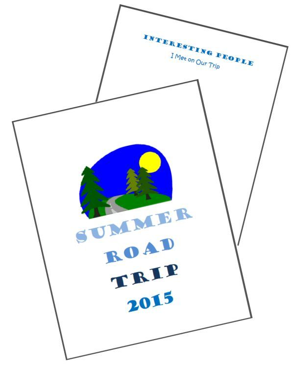 40+ free printables & tips on creating a road trip notebook -- great idea for inspiring the kids to write on vacation!
