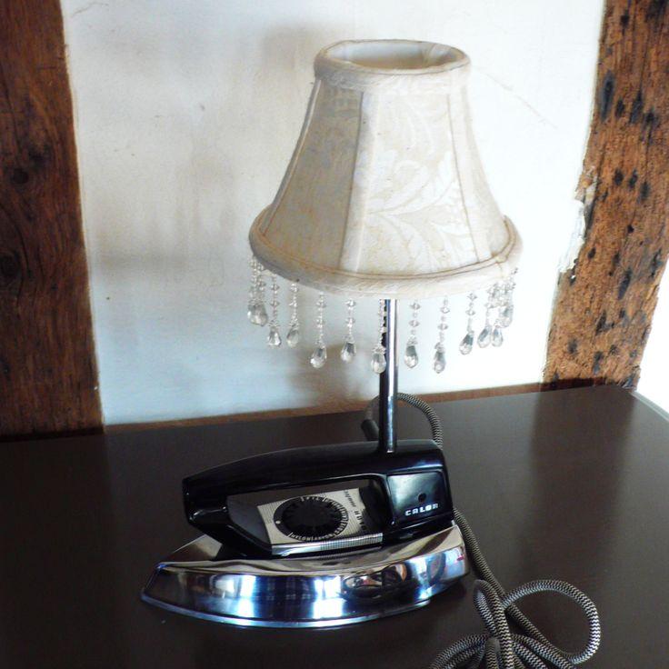 Lampe fer à repasser CALOR Matic, années60, recyclé. de la boutique LaMaisondeBerthalie sur Etsy