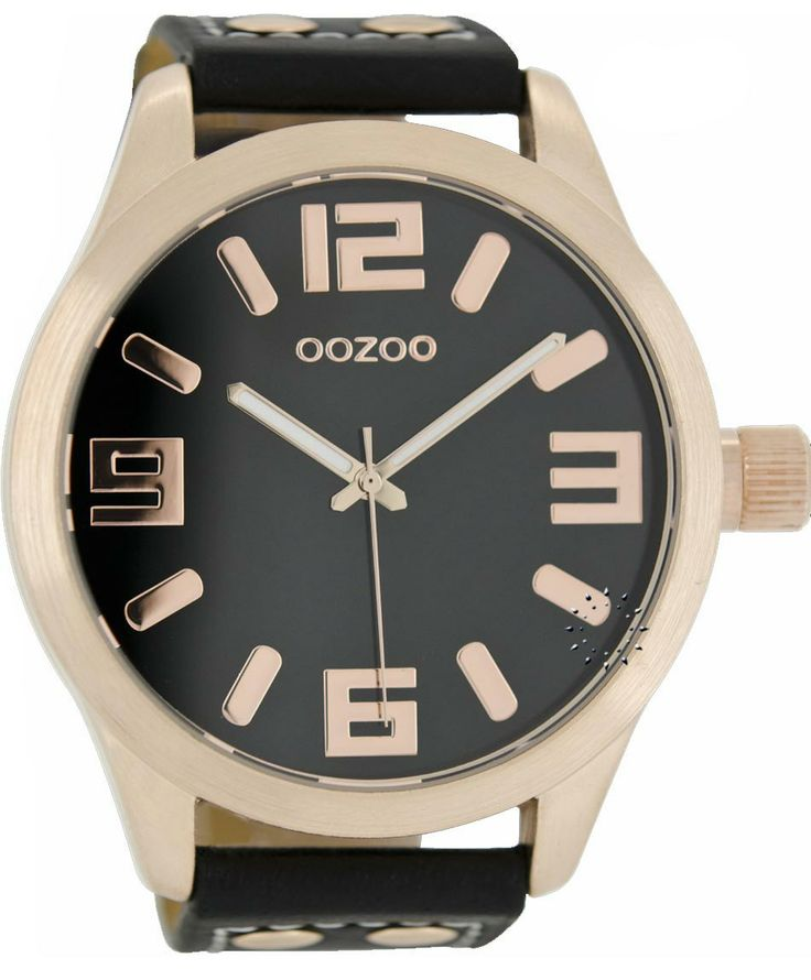 OOZOO Large Rose Gold Timepieces Black Leather Strap Μοντέλο: C1109 Η τιμή μας: 65€ http://www.oroloi.gr/product_info.php?products_id=38509