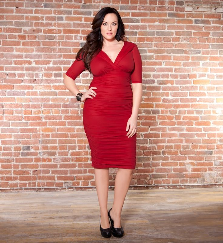 Under 10 red plus size dresses