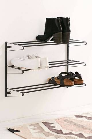 Small Apartment Furniture Ideas Mounted Shoe Racks -- Pour la maison !                                                                                                                                                                                 More