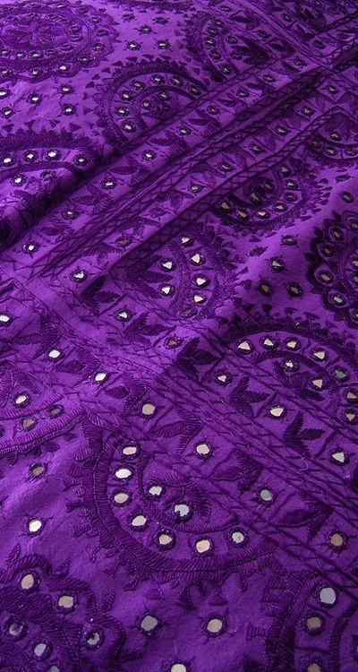 Shisha or embroidery with mirrors classic Indian textile