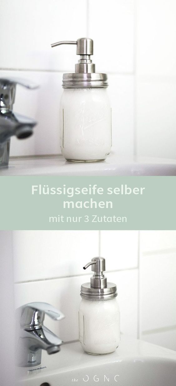 Nachhaltigkeit im Badezimmer – Flüssigseife selber machen – #Gratisprodukte #Ja… – Anteplis
