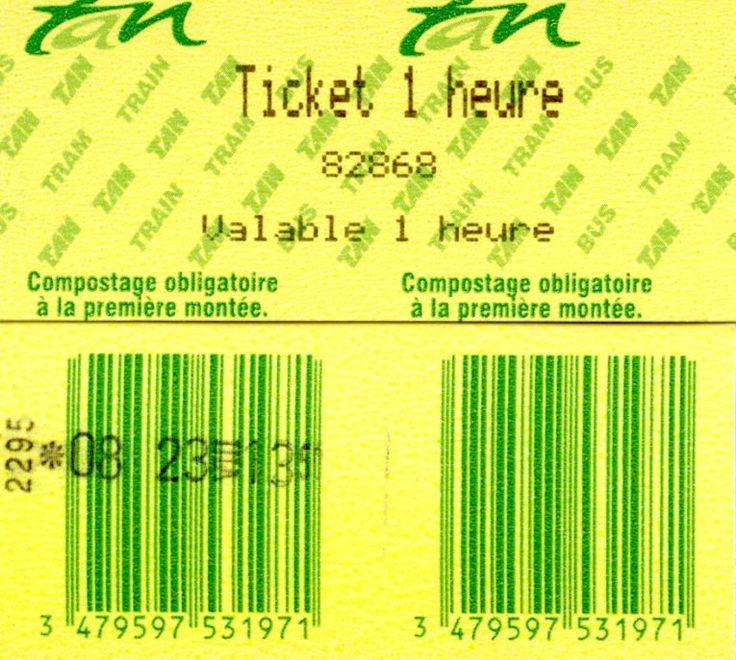 Ticket voor de Tan (Nantes Métropolitaine)