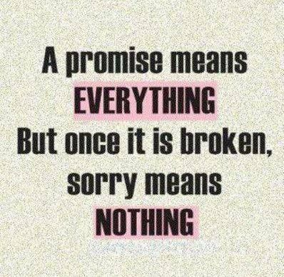 Too many broken promises to believe them anymore..