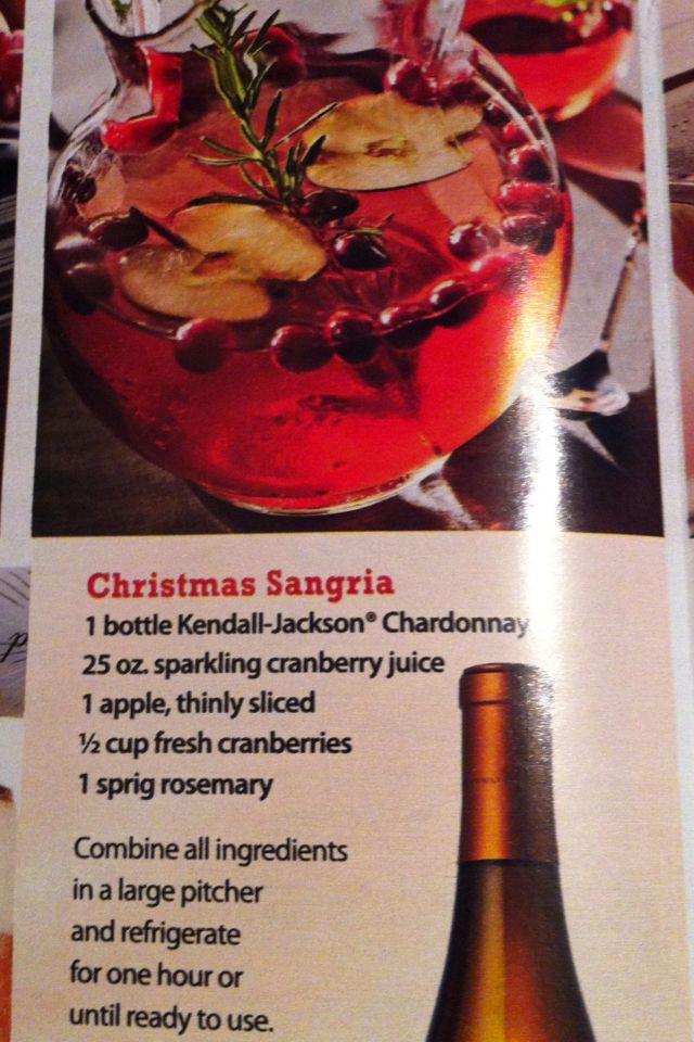 Christmas Sangria- or thanksgiving sangria...
