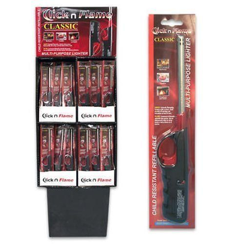 Click And Flame Lighter, Display (144 Pack) by DDI. $518.58. 100% Satisfaction Guaranteed.. High quality items at low prices to our valued customers.. Please refer to the title for the exact description of the item.. All of the products showcased throughout are 100% Original Brand Names.. We proudly offer free shipping. We can only ship to the continental United States.. Disposable flat lighter for barbeque.