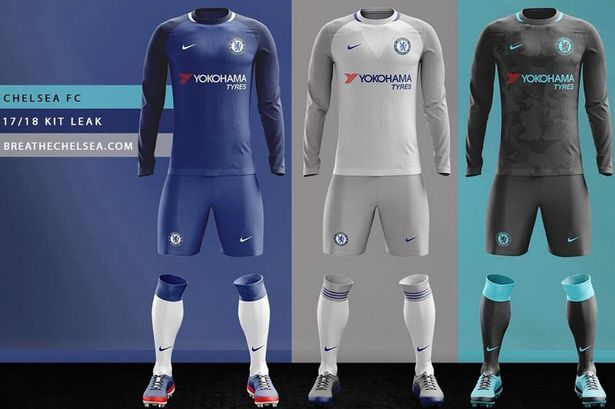 Is this Chelsea's new Nike kit? Designs of 2017/2018 home, away and third strips are 'leaked' - Mirror Online