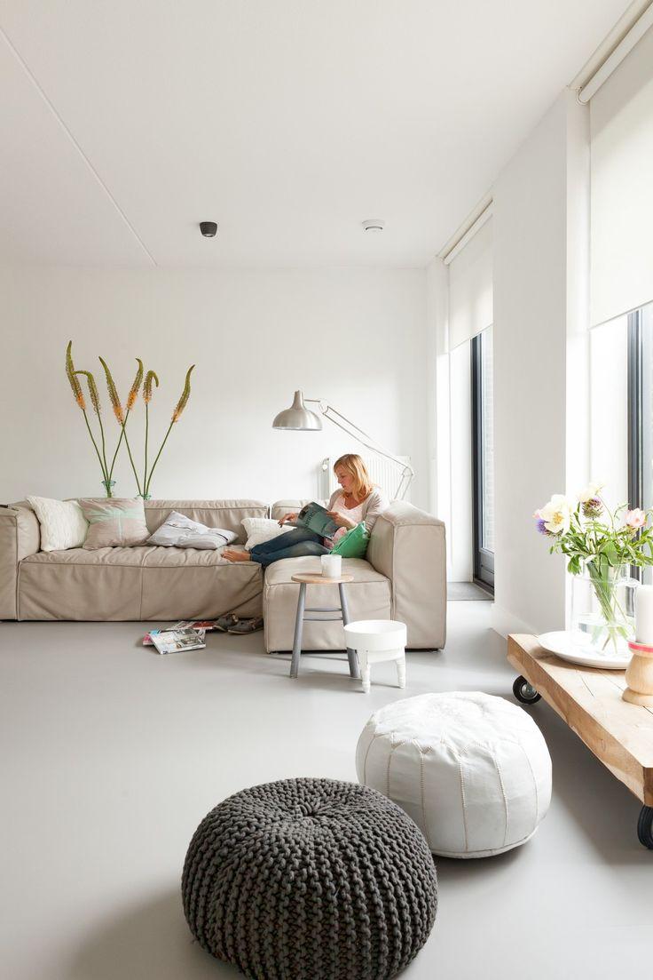 Marmoleum vloer beton look Forbo