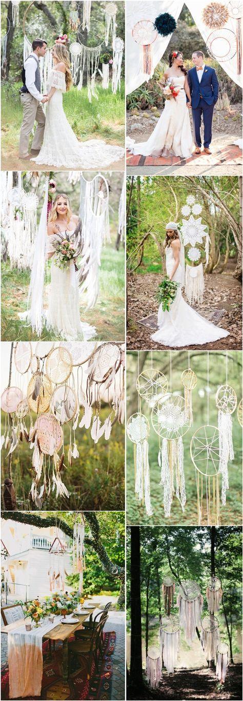 30 Dreamcatchers Boho Wedding Decor Ideas | http://www.deerpearlflowers.com/30-dreamcatchers-boho-wedding-ideas/