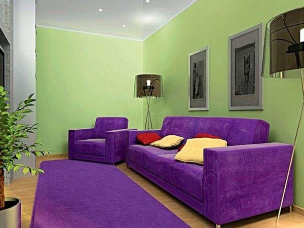 Les 25 meilleures id es concernant salons violet sur for Deco salon gris et mauve