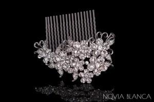 Kryształowy grzebyk do włosów