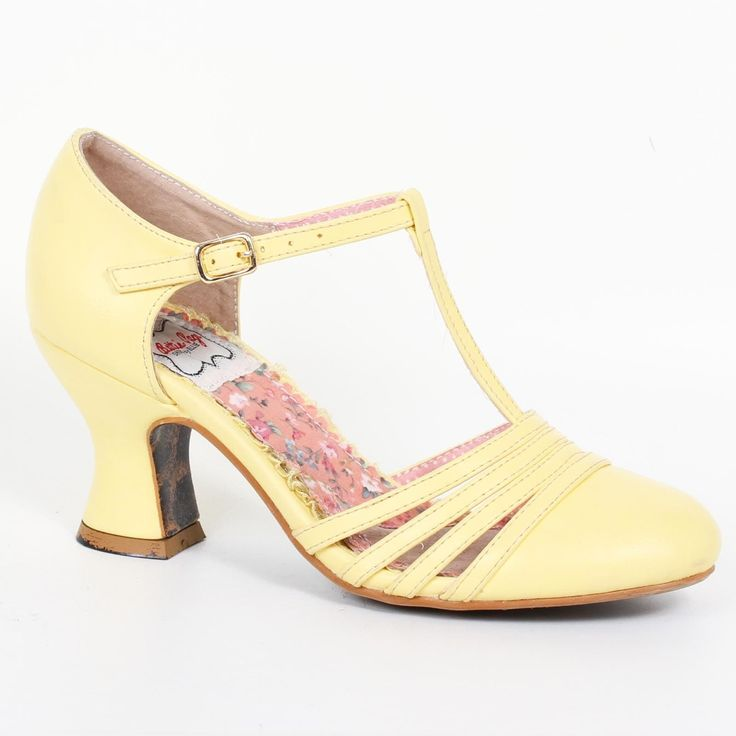 Bettie Page Lucy Shoes - Yellow | US sizes 6, 7, 8, 9, 10, 11