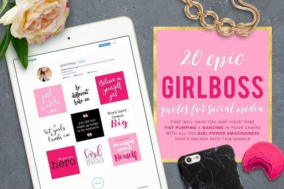 The Epic Girl Boss Instagram Bundle by Garlic Friday Design on /creativemarket/