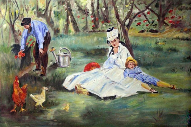 The Monet Family in the Garden | Mother's Day Top 10 Oil ...