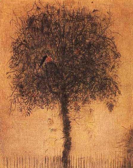 Bohuslav Reynek - The tree (1950's) #graphics #painting #art #Czechia #CzechArt